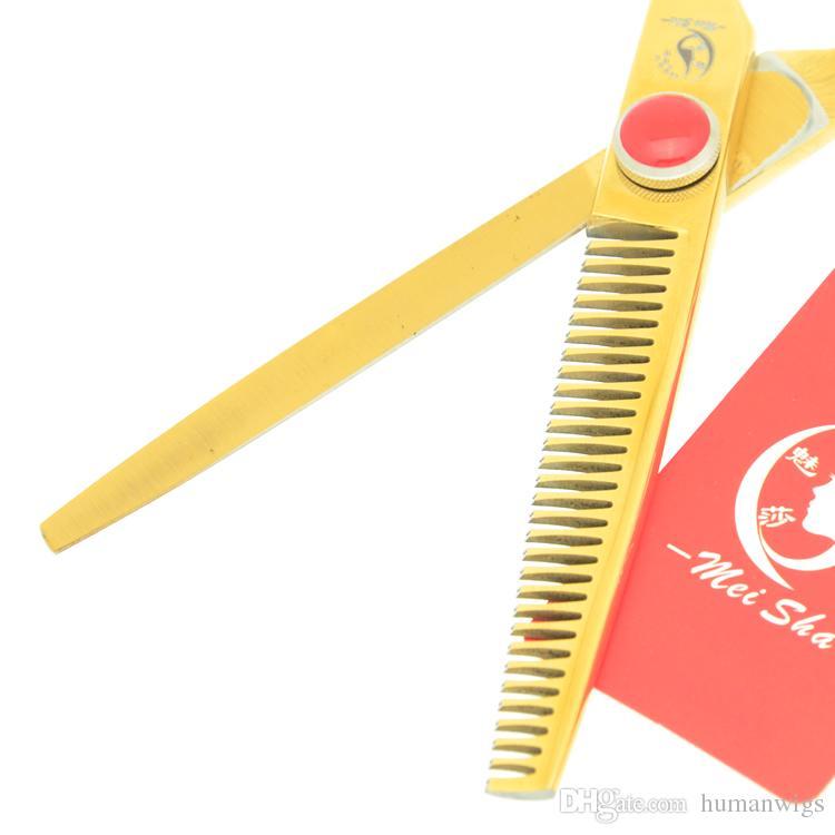 6.0Inch Meisha JP440C Plum Blossom Handle Professional Hairdressing Scissors Set Straight & Thinning Scissors with Bag +Comb,HA0340