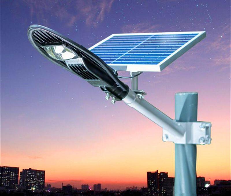 IP65 Integrierte All-in-One-Fernbedienung 20W 30W Solar Power LED Straßenlaterne Gartenbeleuchtung im Freien mit 5M Kabel