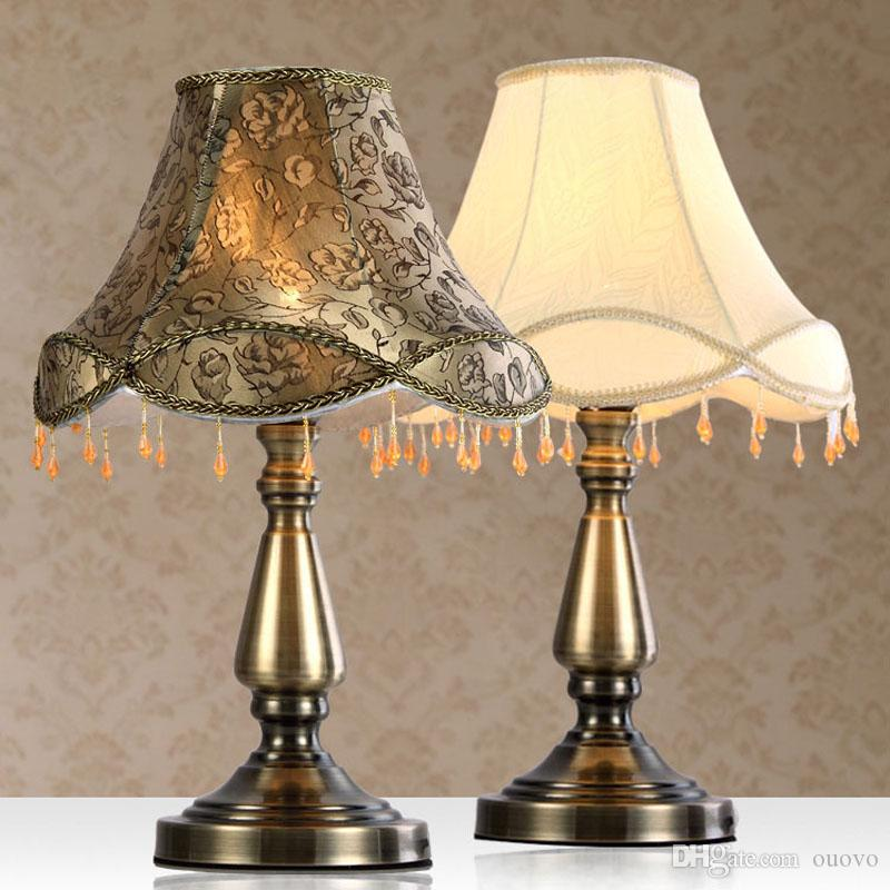 Charmant 2019 Luxury Beads Hanging Bronze Study Room Desk Lamp Europe Fabric Table  Lamp Traditional Bedroom Living Room Desk Lamp From Ouovo, $97.49    DHgate.Com