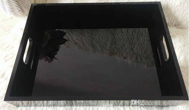 럭셔리 검은색 아크릴 레이디 메이크업 데스크탑 보석 CC 화장품 저장 상자 향수 립스틱을 입술 트레이 정렬 상자