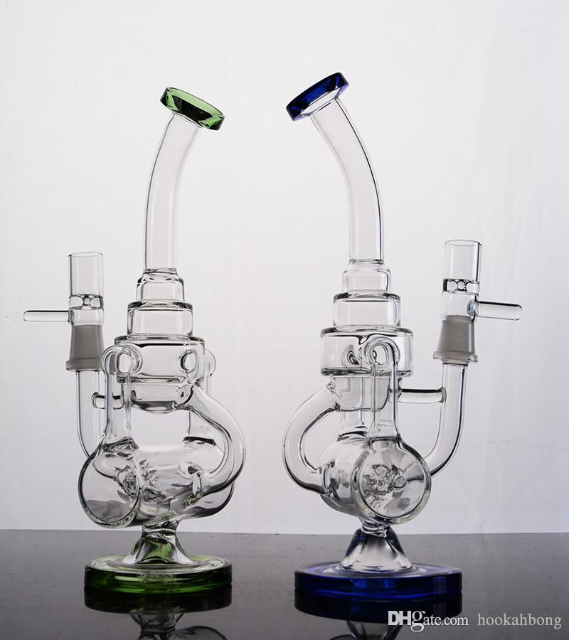 colored Hitman One Jet Ball Recycle Glass Water Bongs Bubbler Water Pipe Bong Rigs Oil rig with 14 MM