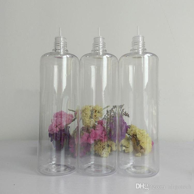 DHL Free E Liquid Bottle 120ml PET Empty Dropper Bottles With Child Proof Lids For E-juice Essential Oil