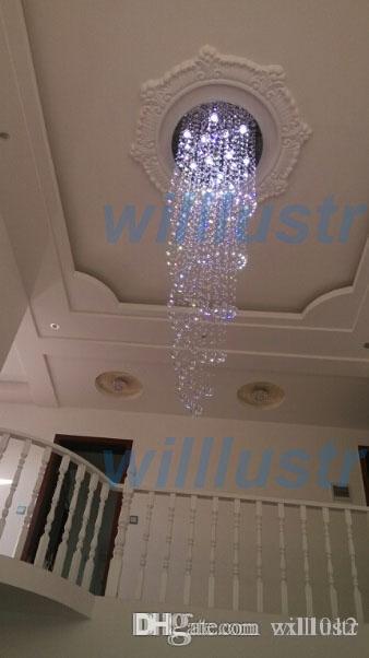 lampadario di cristallo lampada a sospensione spirale di cristallo luce del pendente K9 lampadario di cristallo LED lampada sospensione illuminazione hotel lobby lounge con04