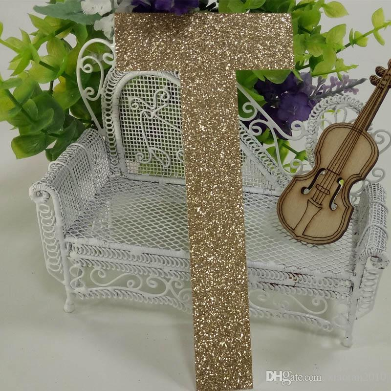 """China supply glitter paper number """"T"""" Decor Festive Birthday Party New Year,Christmas ,Cake,Crafts"""