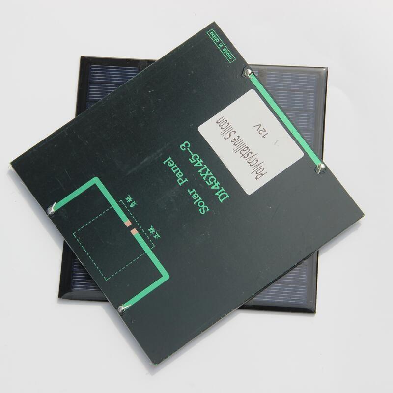 뜨거운 3W 12V 미니 태양 전지 다결정 태양 전지 패널 DIY 패널 태양 전원 배터리 충전기 145 * 145 * 3MM / 무료 배송