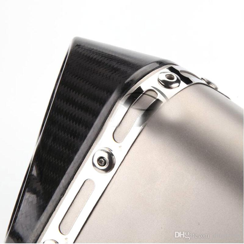 TKOSM 51MM Modified Motorcycle Yoshimura Double Nozzle Exhaust Pipe Straight Row of Imitation Carbon Fiber Scorpio For Kawasaki
