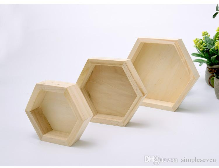 [Simple Seven] Muji Style Jewelry Set Right Hexagon Shape Display High Quality Natural Wooden Jewelry Trays