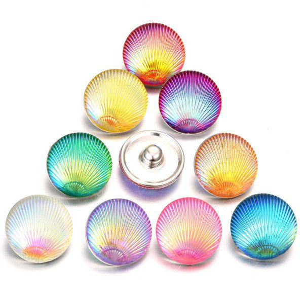 Nouvelle arrivée résine résine bricolage bijoux Rose Fleurs boutons pression Fit 18mm Snap Bracelet Bracelets Bijoux