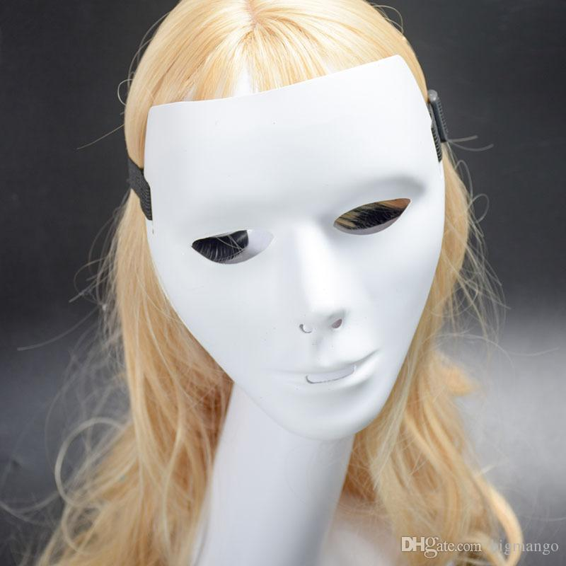 Yüksek kalite sıcak satış bölüm Çevre Dostu beyaz duo dansçılar parti performansları hayalet adım maskeleri toptan ücretsiz kargo