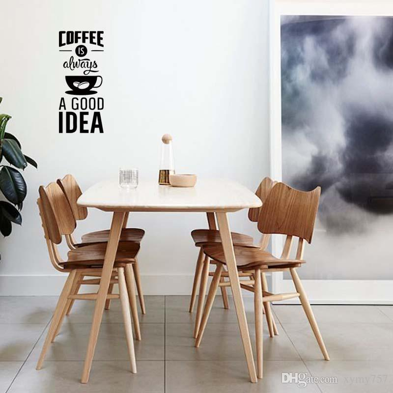 new product for coffee good idea cup kitchen wall sticker removable personality vinyl decal art pub cafe decor diy decor deco stickers for walls deco wall