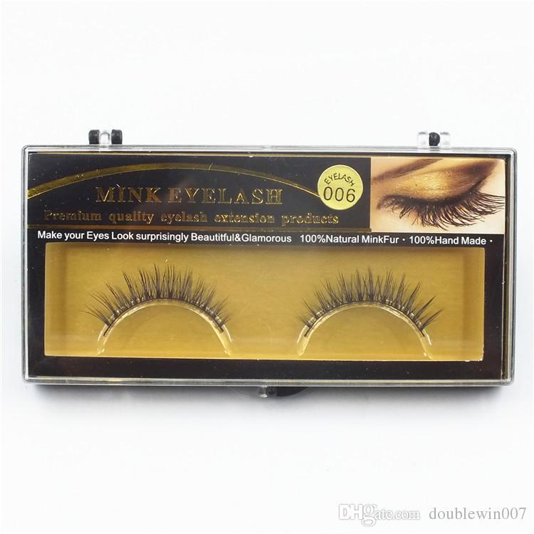 Premium Quality False Eyelashes Handmade Natural Long Thick Mink Eyelashes Soft Fake Eye Lash extensions Black Terrier Full Strip