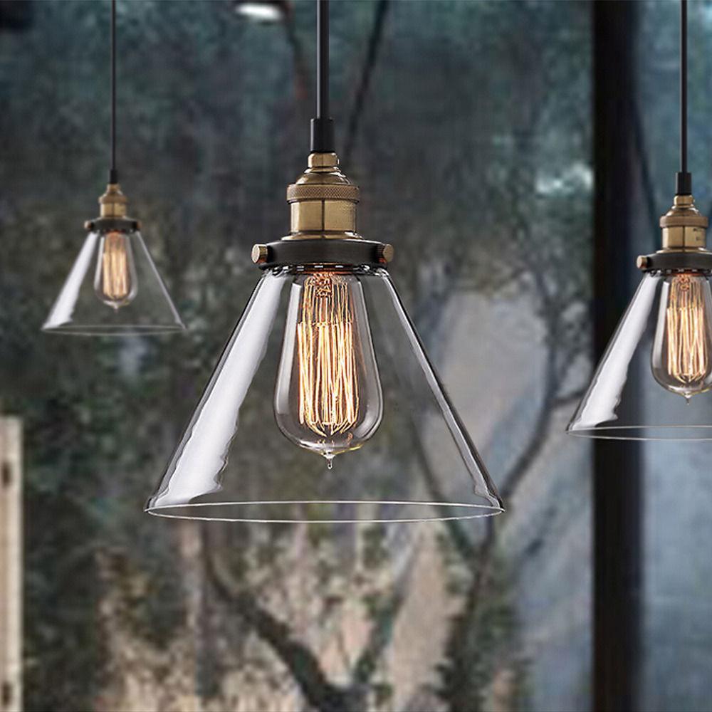 Großhandel Vintage Pendelleuchte Industrie Loft Glas Lampenschirm ...