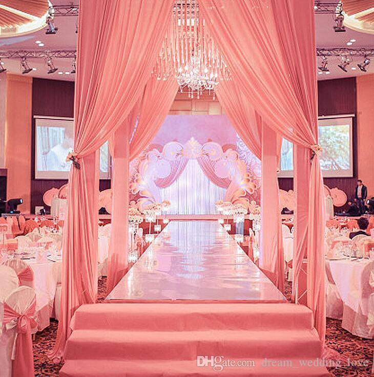 السجاد مرآة السجاد 1M واسعة تلميع الفضة مرآة السجاد الممر عداء للحصول على زفاف رومانسي الحسنات حزب الديكور WT057