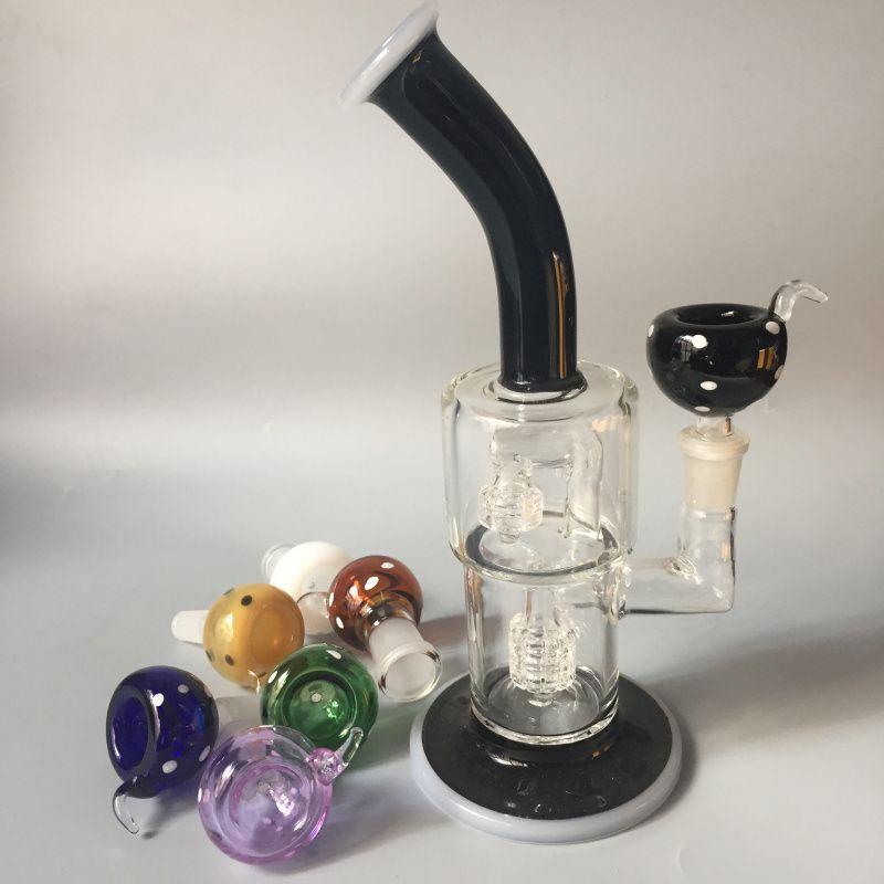 10mm 14mm 18mm Ciotola di vetro Maschio Femmina 14.4mm 18.8mm Ciotole di vetro con schermo a nido d'ape Ciotola rotonda Catcher di vetro Fumo di fumo Bong