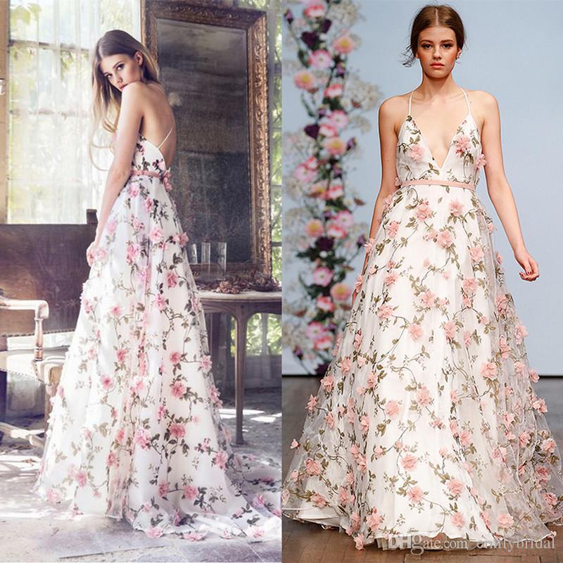 New Design 3d Floral Prom Dresses Long Engagement Dress 2017 Open ...
