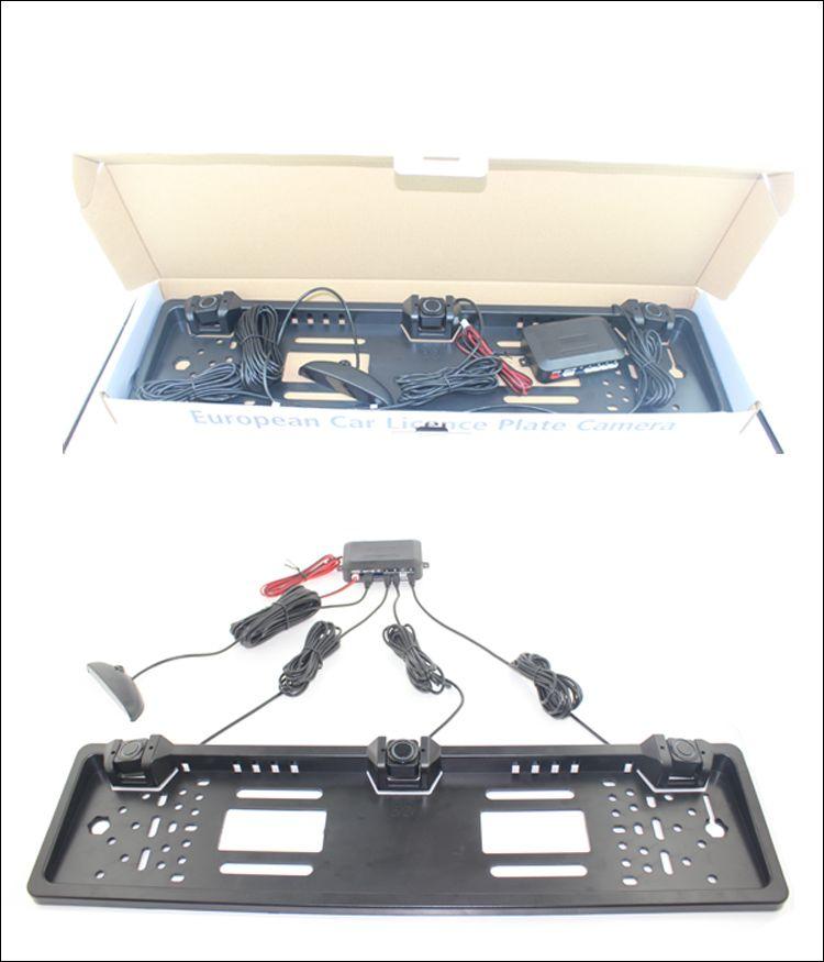 European European Plate Plate Sensore di parcheggio NO foratura LCD a LED Quattro sensori Human Voice Bibi Sound i da scegliere