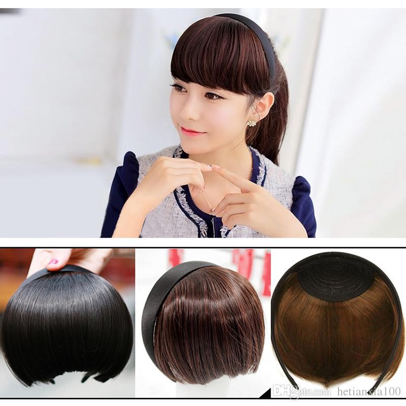 Straight Fringe False Hair Clip In Bangs Cut Bangs Front Hair