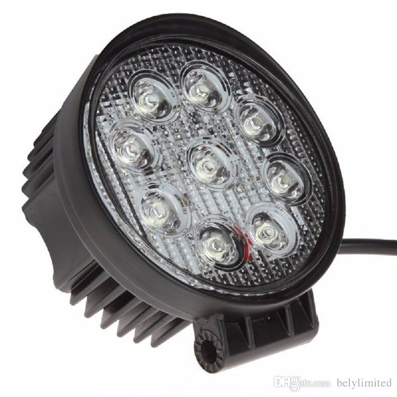 27W led work light 12V 24V LED Tractor work light lamp Flood off road 4X4 car ATV LED offroad light bar for trucks