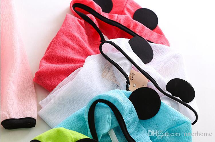Kinder Kleidung Ins UV Kapuzenjacken Kinder Nette Panda Ohren Sonnenschutz Pullover Rash Guard Shirts Kinder Licht Klimaanlage Mantel H715
