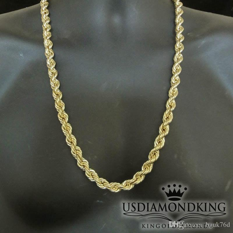 gold necklace zales curb p mens v s men chain solid in