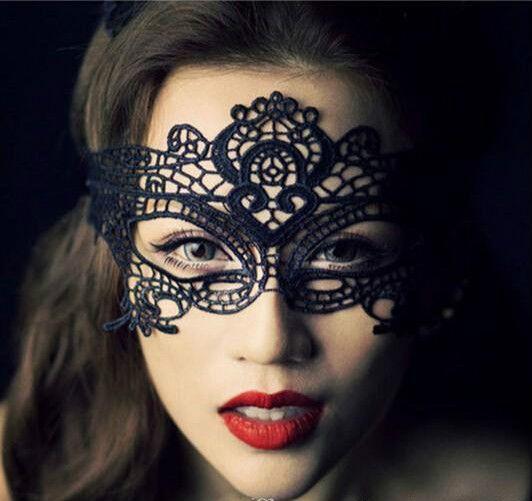 2016 новые девушки женщины горячие продажи черный Sexy Lady кружева Маска вырез маска для глаз для Маскарад партии необычные платья костюм