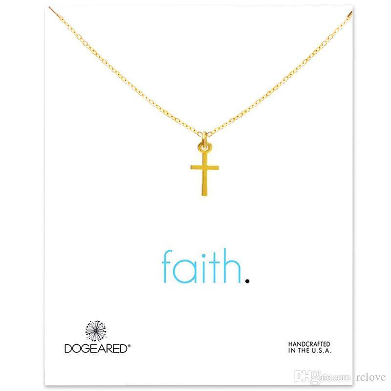 Nouvelle arrivée Avec carte! Collier en argent doré avec pendentif différent, croix / Wishing Bones / ancre / infini / cercle / éléphant / coeur L