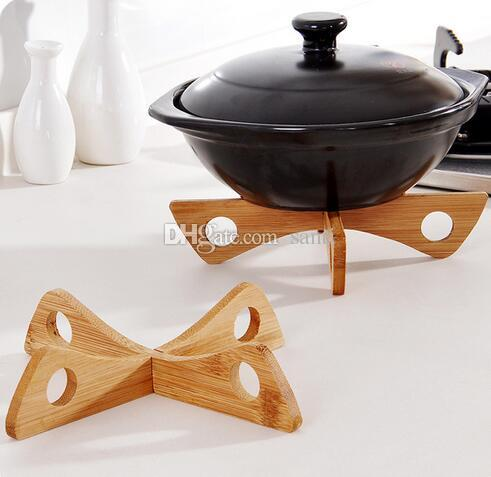 Bamboo Heat Resistant Pan Mats Removable Pot Mat Holder Kitchen Cooking Insulation Pad Bowl Cup Coasters