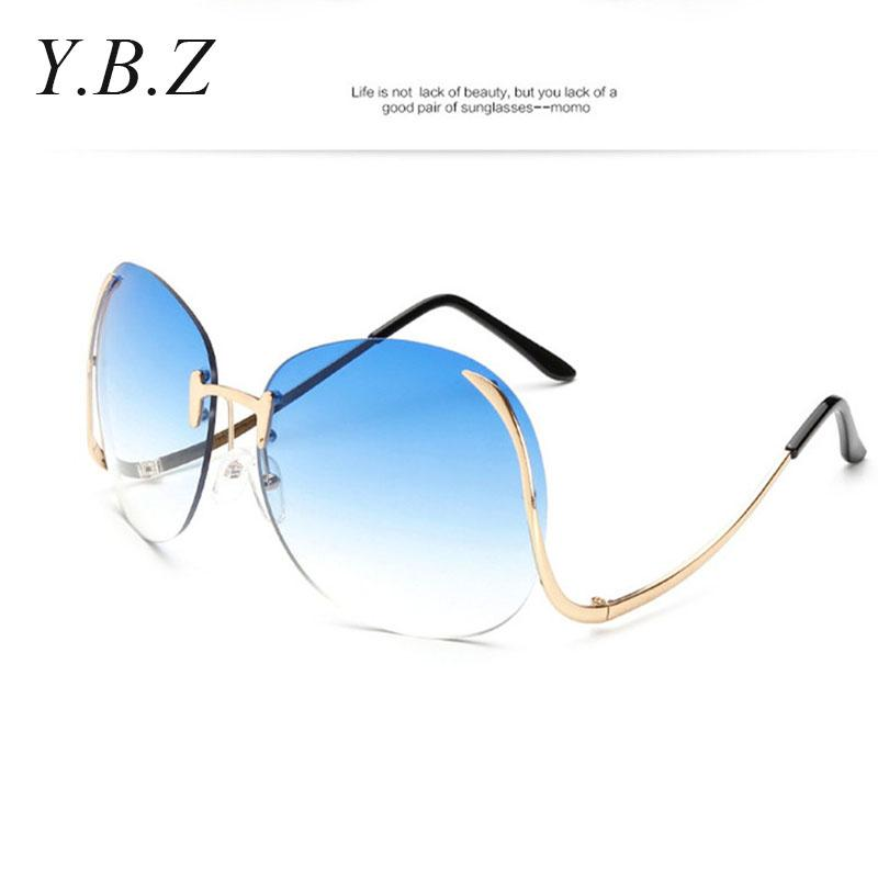 b047d95c63c Wholesale STORY Rimless Gradient Classic Eyeglasses Sunglasses Metal Frame  Women Men UV400 Vintage Sun Glasses Frame Retro Oversized Baseball  Sunglasses ...