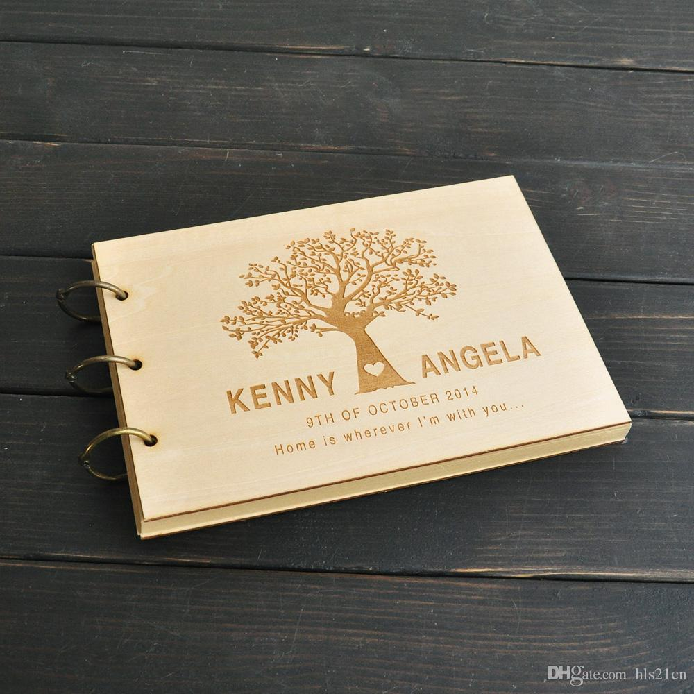 2018 custom wedding tree guest book wedding guestbook album personalized wooden guest book bridal shower wedding gifts from hls21cn 2499 dhgatecom