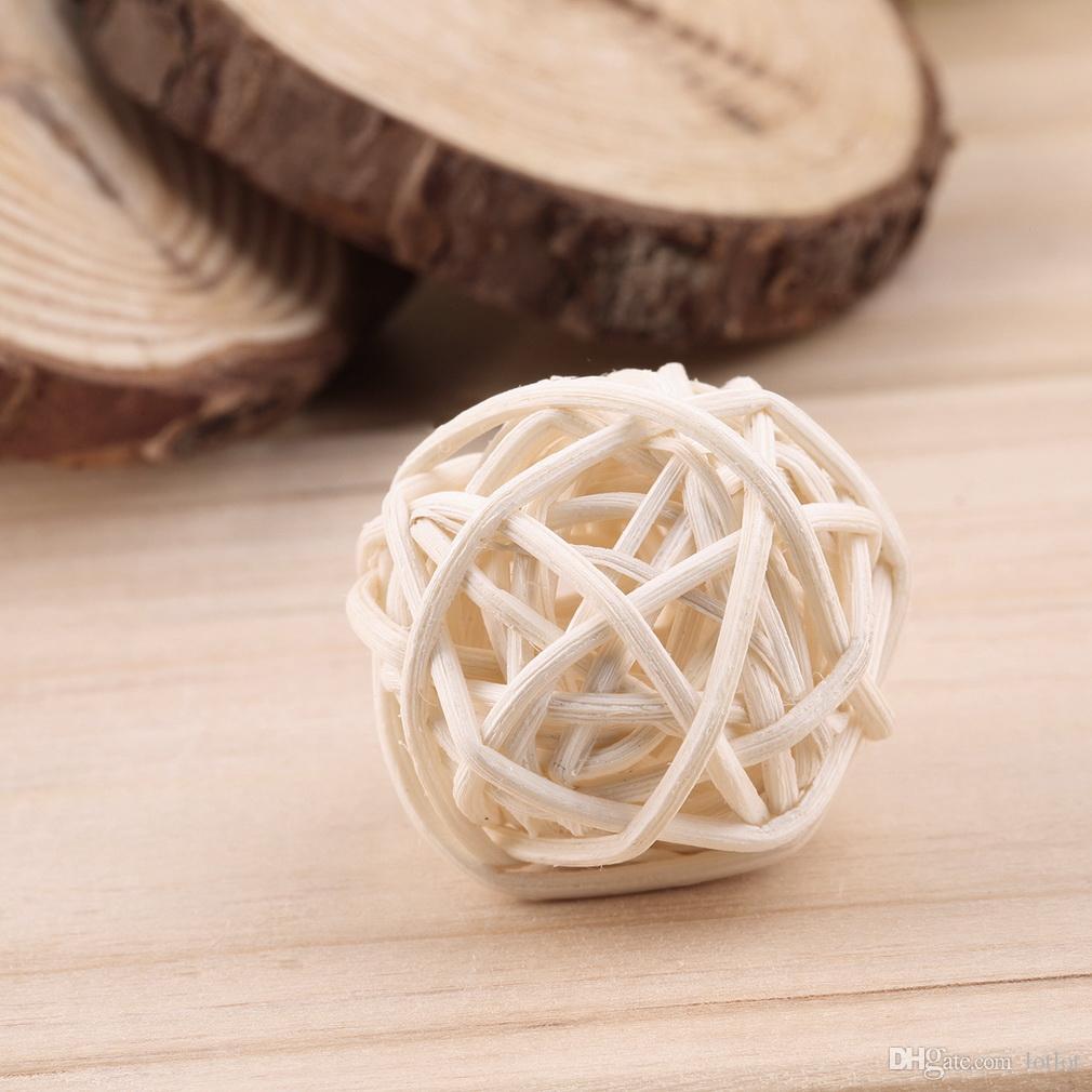 O casamento decorou a esfera do Rattan, ornamento da casa da decoração do Natal / fontes home do partido do evento do feriado da decoração do diâmetro