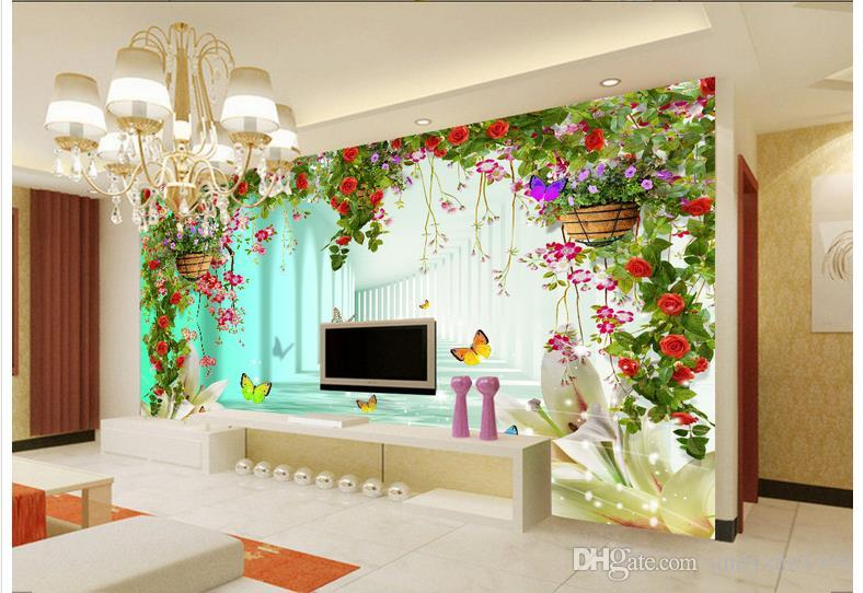 3d foto papel de parede personalizado 3d murais papel de parede em forma de coração flores estúdio vestido de noiva 3 d fundo tv papel de parede sala de estar decoração da parede