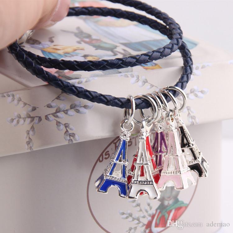 2017 Torre gocciolare appendere lega grande posta perline braccialetto accessori fai da te stile euramerican
