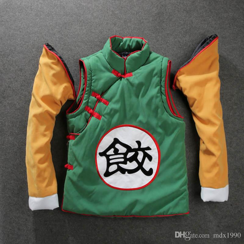 Cartoon Dragonball Jacket For Men Classic Stitching Color Baseball Jersey Jackets Winter COSPLAY Hood Coat Cotton Clothes