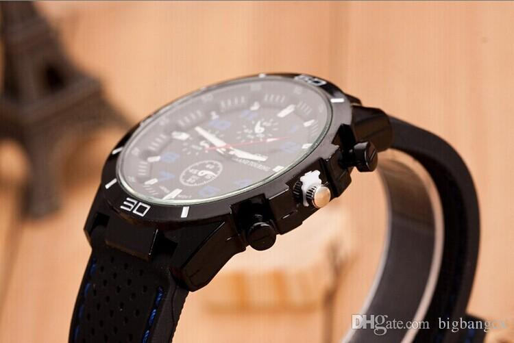GT Grand Touring Men Watches Relojes deportivos de cuarzo Correa de reloj de silicona para hombre Watchband Military Watch Men's Christmas Gifts