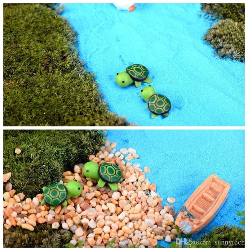 اصطناعية لطيف الأخضر السلحفاة الحيوانات الجنية حديقة المنمنمات التماثيل الطحلب مرابي حيوانات الراتنج الحرف التماثيل ل حديقة الديكور F2017726
