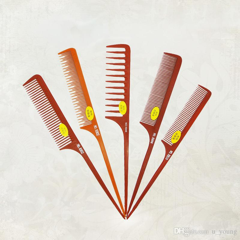 Hot Sale Hair Styling Wood Tail Combs Anti Static Professional Salon Wide Tine Comb High Quality
