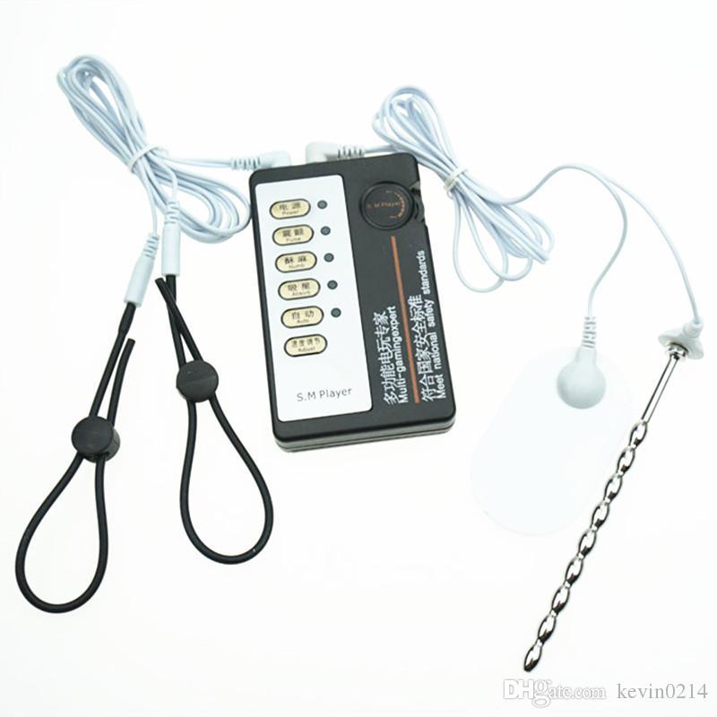 3in1 Stromschlag Penisringe + Harnröhrenwand Penis Plug + Vagina Pad Home Medical Therap Ausrüstung für Paare Erwachsene Geschlechtsspielwaren I9-1-28
