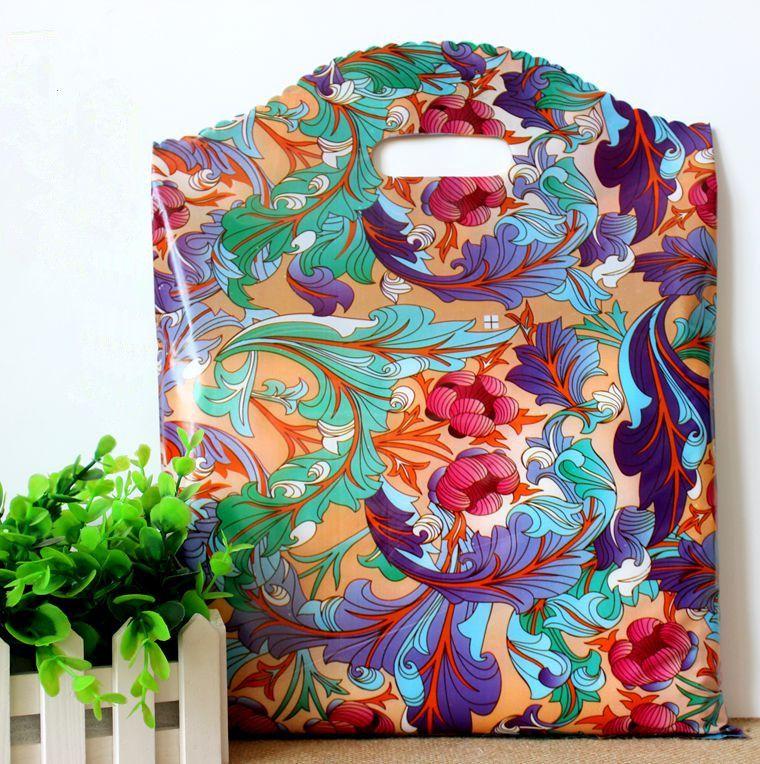 25 * 35cm 중국 스타일의 꽃 패턴 오페라 플라스틱 페인트 선물 가방 선물 의류 파우치