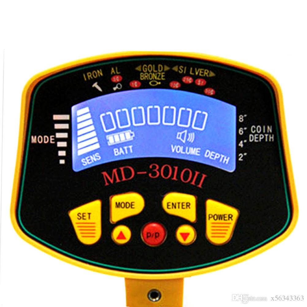Alta Qualidade Detector De Metal LCD Tela Alvo Profunda Bobinas De Energia De Alto Desempenho Subterrâneos Detectores De Metal Industrial-Frete Grátis