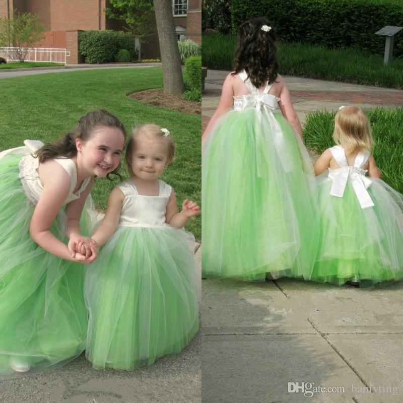 e8474b22ce3 Cute Baby Children Flower Girl Dresses For Weddings Toddler Tutu Gown Kids  First Communication Dress Floor Length Custom Made Green Flower Girl Dresses  Nyc ...