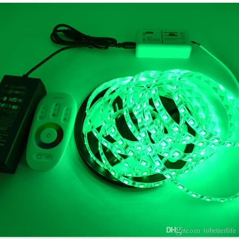 As luzes de tira da decoração do RGB conduziram o controlador remoto do toque de 300leds 5m 10m 15m 20m RF + fonte de alimentação swtiching