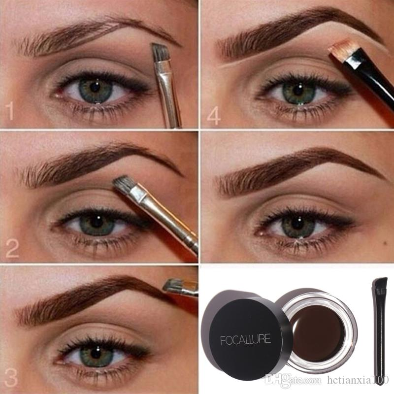 Waterproof High Brow Pigment Black Brown Henna Eyebrow Gel Brow