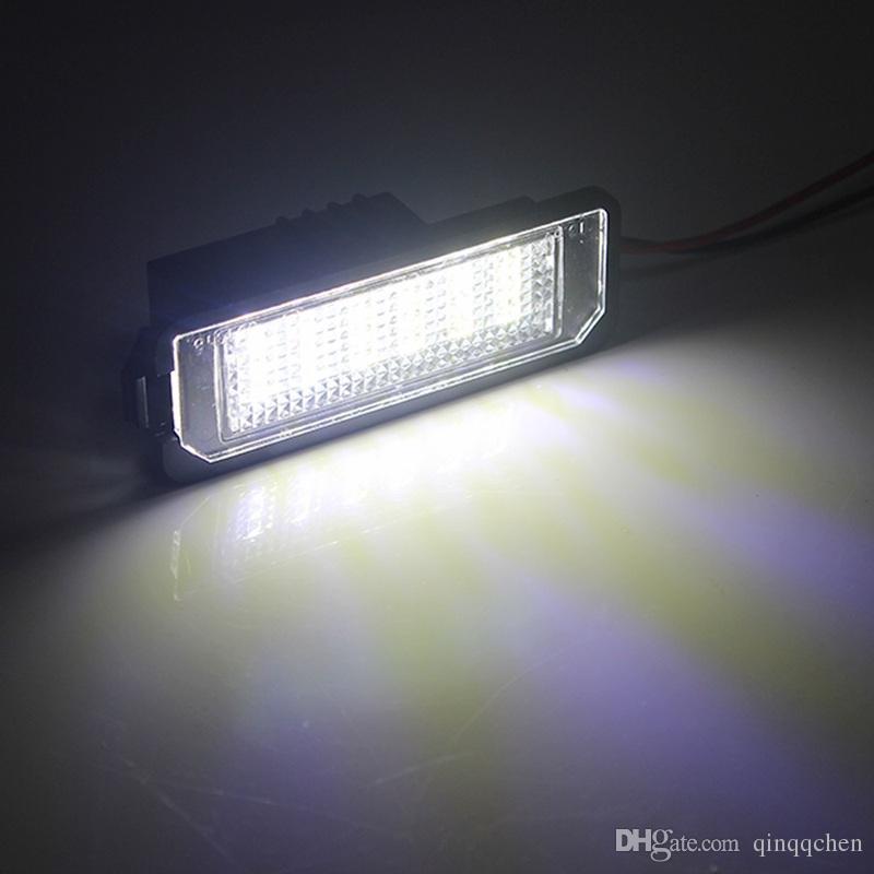 2 pz / lotto Super Luminoso Auto Numero Piastra Luce VW Scirocco Golf 4 5 6 GTI Car Styling LED Luci di targa auto Porsche SMD 3528