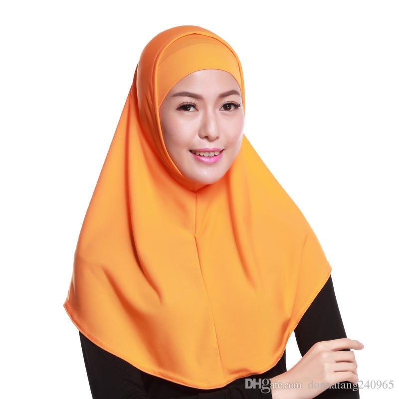 1d26ab24716f Acheter Diverses Couleurs Hijab Musulmane Jersey Châle En Jersey Hijab  Hijabs Au Détail Jolie Écharpe Malaise Serviette Islamique De  5.18 Du ...