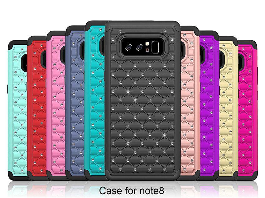 online retailer 63c2b 98535 For Samsung Galaxy Note 8 Case Luxury Glitter Diamond Hybrid Soft Silicone  Case For iphone 8 7 7 plus Samsung S8 S8 plus