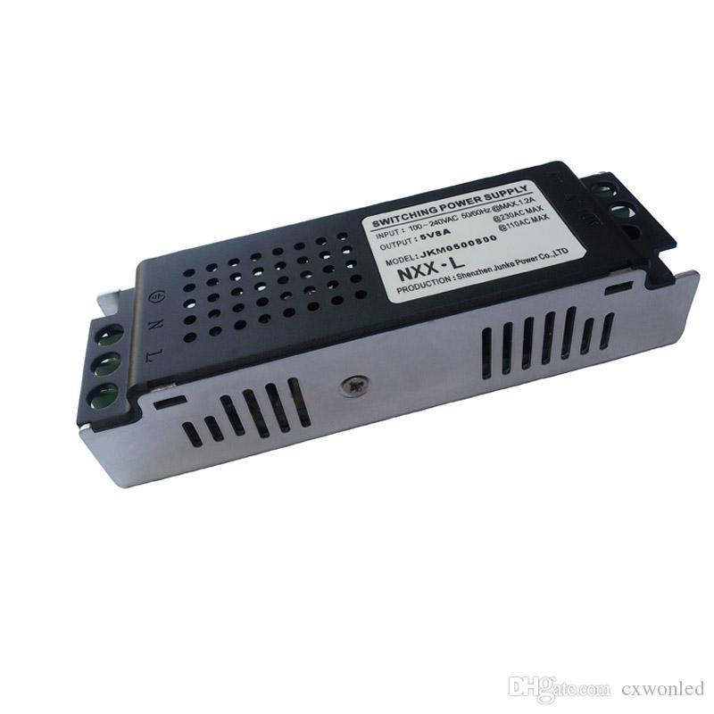 Ultra İnce Anahtarı Güç kaynağı 5 V 6A 8A 14A 18A 25A 40A trafo için LED 5 v Şerit, CCTV