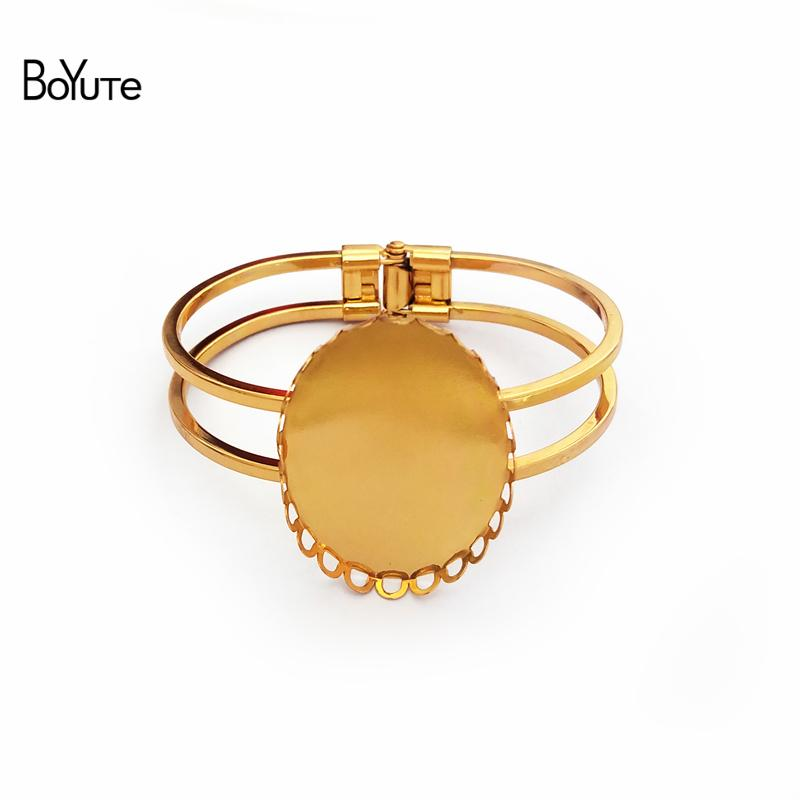 33a2b58ab BoYuTe New Oval 30*40MM Cabochon Base Bangles Plated DIY Cuff Bangle Blanks  Cabochon Base Base Bangles DIY Bracelet Accessories Online with  $13.17/Piece on ...