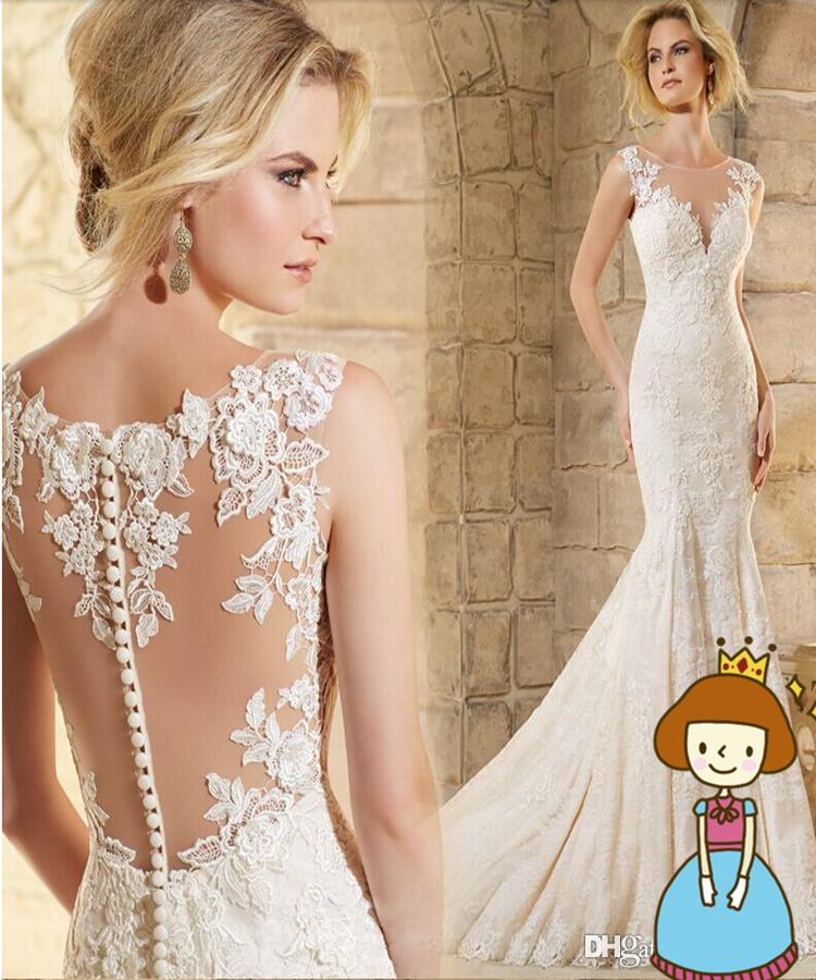 Vintage Mermaid Wedding Dresses Champagne Gorgeous 2017 Lace Sweetheart Bridal Gowns Sexy Online Cheap Designer Discount