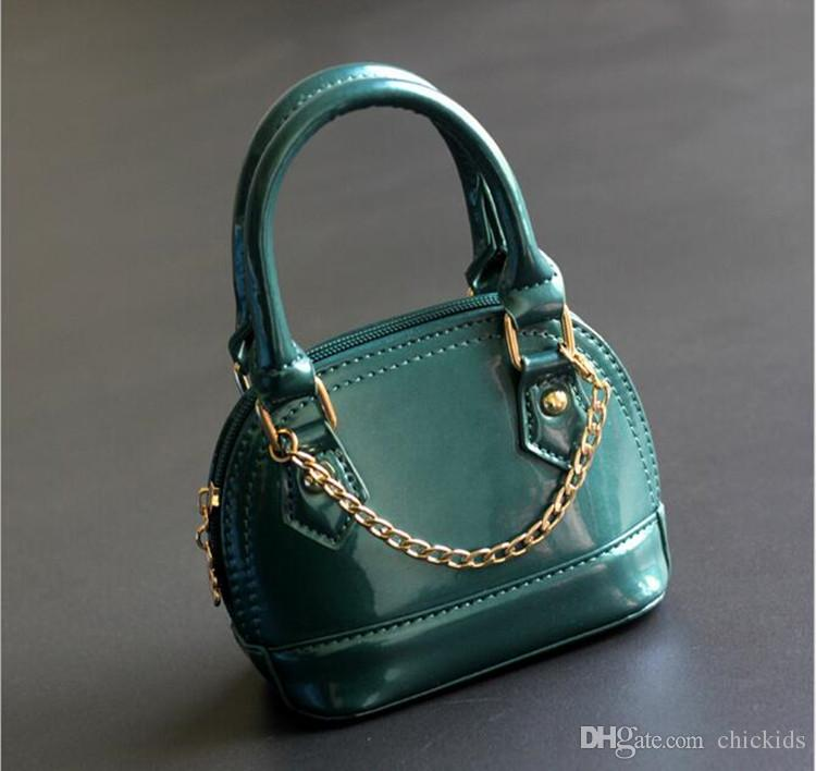 Fashion Kid handbag PU Leather Kids Handbags Stylish Baby Girl Purse Candy Color Toddler Bags Girls Mini Shell Bag DHL CK136