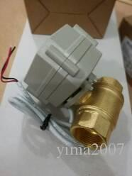 "2017 2 way 3/4"" DN20 Brass Electric Ball Valve, 2 way,DC12V, 2 wires BSP thread Motorized ball valve, CR201 with actuator"